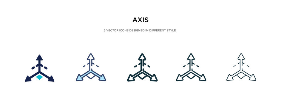 axis icon in different style vector illustration. two colored and black axis vector icons designed in filled, outline, line and stroke style can be used for web, mobile, ui