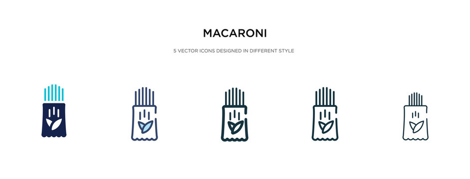 macaroni icon in different style vector illustration. two colored and black macaroni vector icons designed in filled, outline, line and stroke style can be used for web, mobile, ui