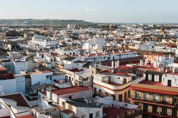 Panoramablick auf die Stadt Sevilla-Andalusien-Spanien