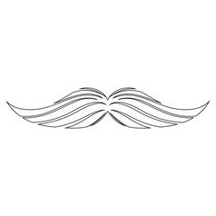 Isolated moustache image. Hipster concept - Vector illustration