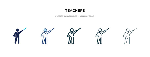 teachers icon in different style vector illustration. two colored and black teachers vector icons designed in filled, outline, line and stroke style can be used for web, mobile, ui