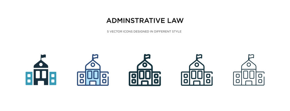 adminstrative law icon in different style vector illustration. two colored and black adminstrative law vector icons designed in filled, outline, line and stroke style can be used for web, mobile, ui
