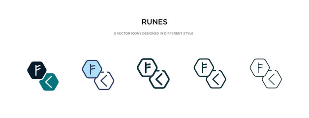runes icon in different style vector illustration. two colored and black runes vector icons designed in filled, outline, line and stroke style can be used for web, mobile, ui