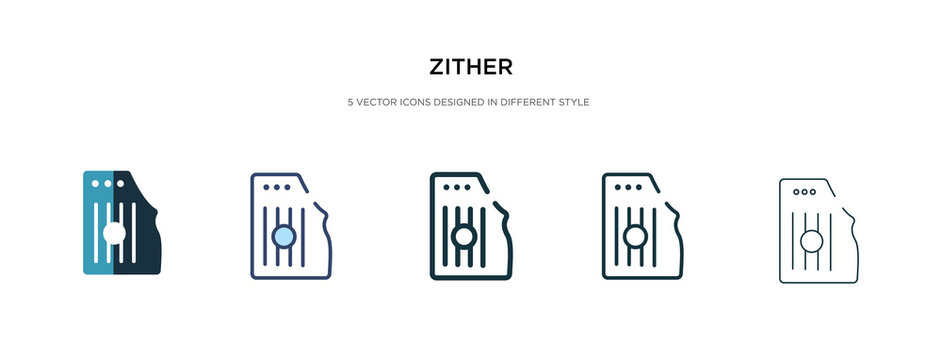zither icon in different style vector illustration. two colored and black zither vector icons designed in filled, outline, line and stroke style can be used for web, mobile, ui