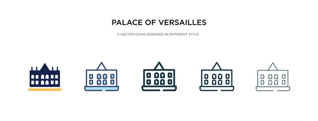 palace of versailles icon in different style vector illustration. two colored and black palace of versailles vector icons designed in filled, outline, line and stroke style can be used for web,