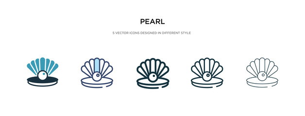 pearl icon in different style vector illustration. two colored and black pearl vector icons designed in filled, outline, line and stroke style can be used for web, mobile, ui