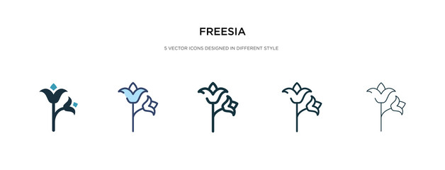 freesia icon in different style vector illustration. two colored and black freesia vector icons designed in filled, outline, line and stroke style can be used for web, mobile, ui