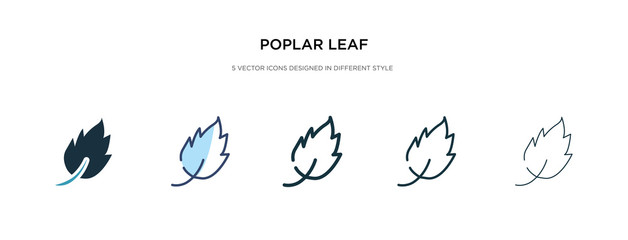 poplar leaf icon in different style vector illustration. two colored and black poplar leaf vector icons designed in filled, outline, line and stroke style can be used for web, mobile, ui