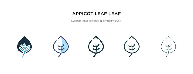 apricot leaf leaf icon in different style vector illustration. two colored and black apricot leaf vector icons designed in filled, outline, line and stroke style can be used for web, mobile, ui