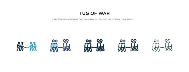 tug of war icon in different style vector illustration. two colored and black tug of war vector icons designed in filled, outline, line and stroke style can be used for web, mobile, ui