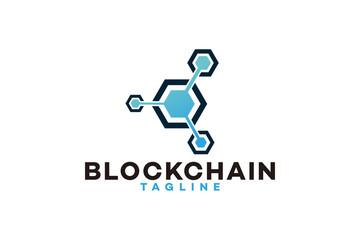 Blockchain logo icon vector isolated