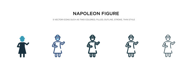napoleon figure icon in different style vector illustration. two colored and black napoleon figure vector icons designed in filled, outline, line and stroke style can be used for web, mobile, ui