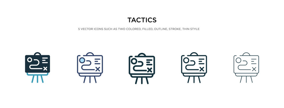 tactics icon in different style vector illustration. two colored and black tactics vector icons designed in filled, outline, line and stroke style can be used for web, mobile, ui