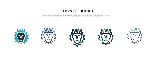 lion of judah icon in different style vector illustration. two colored and black lion of judah vector icons designed in filled, outline, line and stroke style can be used for web, mobile, ui