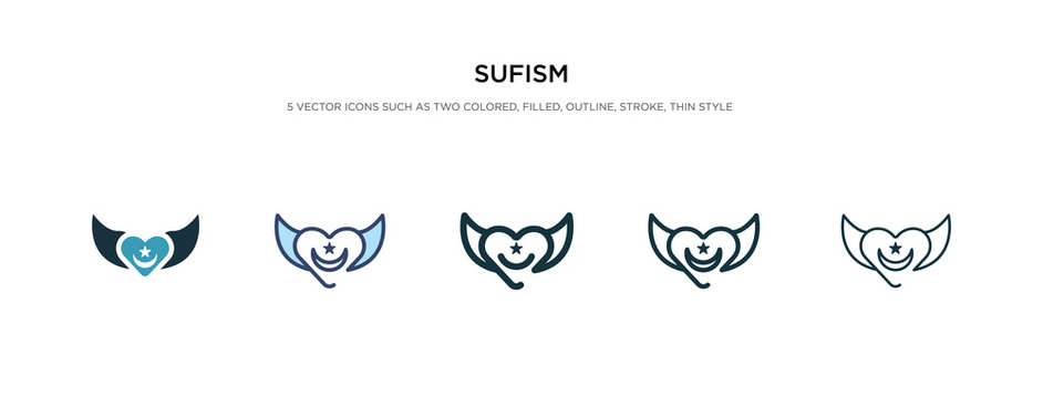 sufism icon in different style vector illustration. two colored and black sufism vector icons designed in filled, outline, line and stroke style can be used for web, mobile, ui