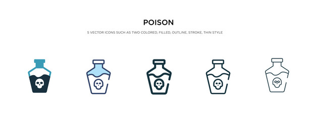 poison icon in different style vector illustration. two colored and black poison vector icons designed in filled, outline, line and stroke style can be used for web, mobile, ui