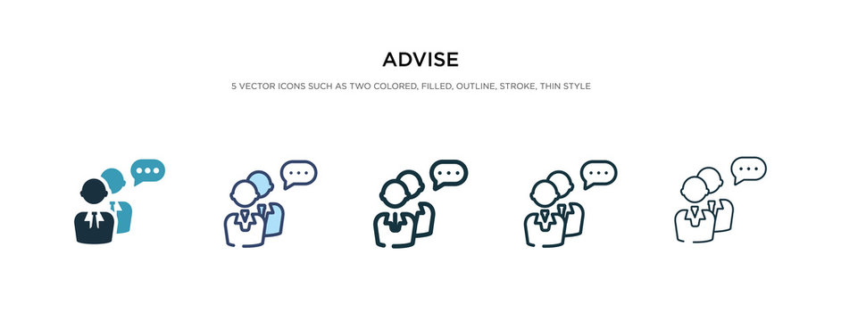 advise icon in different style vector illustration. two colored and black advise vector icons designed in filled, outline, line and stroke style can be used for web, mobile, ui