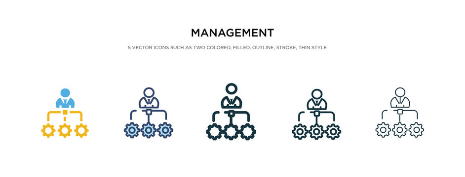management icon in different style vector illustration. two colored and black management vector icons designed in filled, outline, line and stroke style can be used for web, mobile, ui