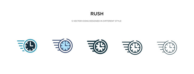 rush icon in different style vector illustration. two colored and black rush vector icons designed in filled, outline, line and stroke style can be used for web, mobile, ui