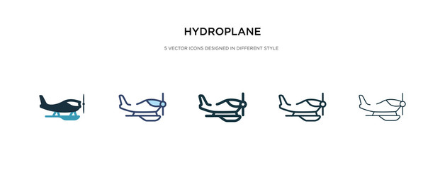 hydroplane icon in different style vector illustration. two colored and black hydroplane vector icons designed in filled, outline, line and stroke style can be used for web, mobile, ui