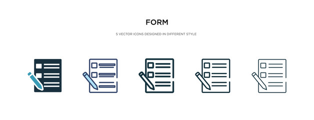 Obraz form icon in different style vector illustration. two colored and black form vector icons designed in filled, outline, line and stroke style can be used for web, mobile, ui - fototapety do salonu