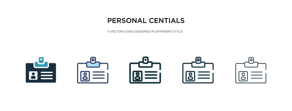 personal centials icon in different style vector illustration. two colored and black personal centials vector icons designed in filled, outline, line and stroke style can be used for web, mobile, ui