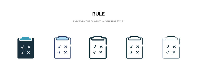 rule icon in different style vector illustration. two colored and black rule vector icons designed in filled, outline, line and stroke style can be used for web, mobile, ui