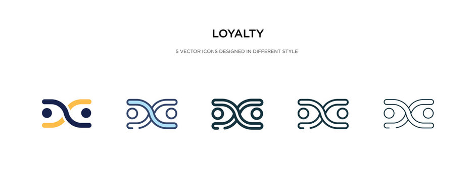 loyalty icon in different style vector illustration. two colored and black loyalty vector icons designed in filled, outline, line and stroke style can be used for web, mobile, ui