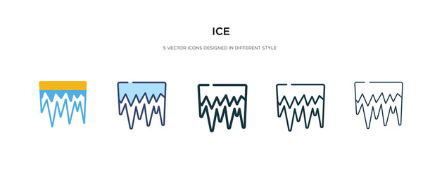 ice icon in different style vector illustration. two colored and black ice vector icons designed in filled, outline, line and stroke style can be used for web, mobile, ui