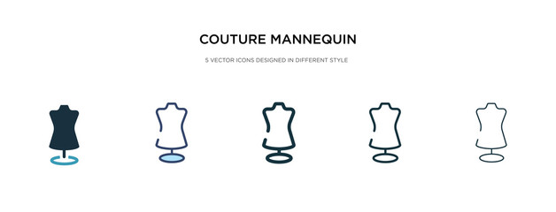 couture mannequin icon in different style vector illustration. two colored and black couture mannequin vector icons designed in filled, outline, line and stroke style can be used for web, mobile, ui Wall mural
