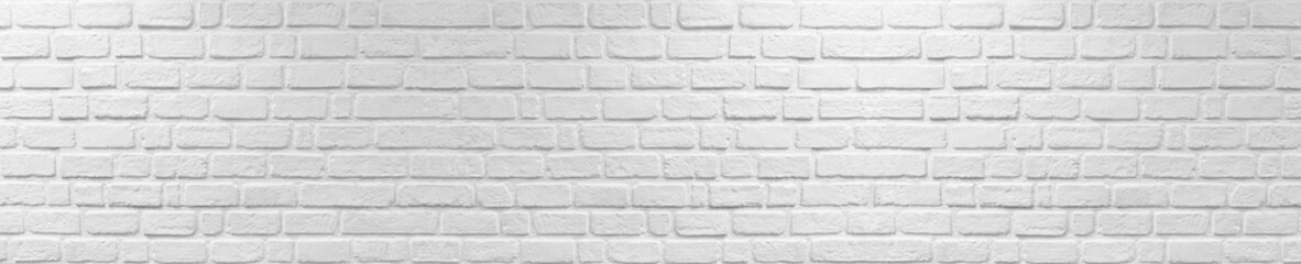 White cement plaster walls made of bricks look old and vintage background texture. panorama photo.