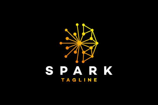 Spark logo icon vector isolated