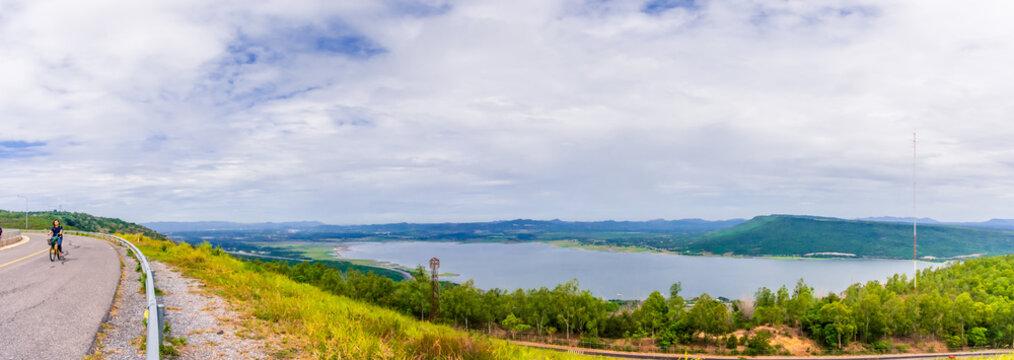 landscape Natural Attraction on the dam lamtakong nakhonratchasima thailand