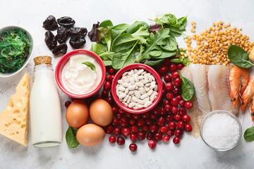 Fototapeta Foods rich in iodine obraz