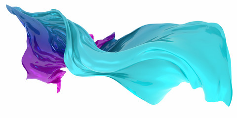 Abstract background of multicolored wavy shape. 3d rendering image.