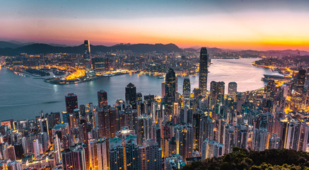 Photo sur Aluminium Hong-Kong Hong Kong by sunrise