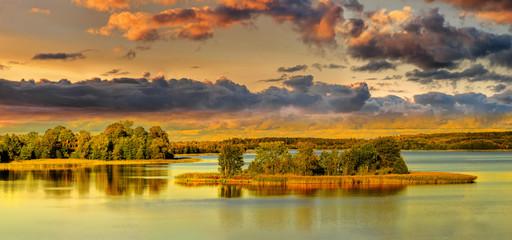 Fototapeta jesień na Suwalszczyżnie w Burniszkach obraz