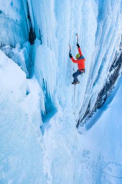 Extreme ice climbing