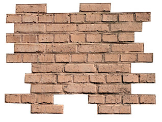 red brick wall background at day