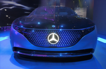 Mercedes Benz Vision EQS luxury electric concept car