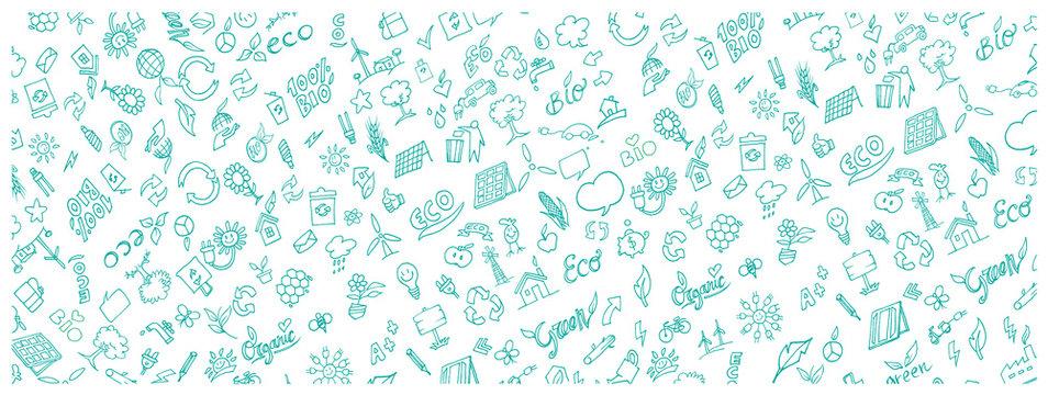 pattern banner eco symbol element . illustration