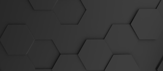Obraz Abstract modern black honeycomb background - fototapety do salonu