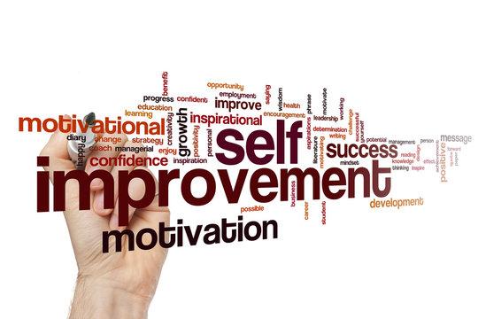 Self improvement word cloud
