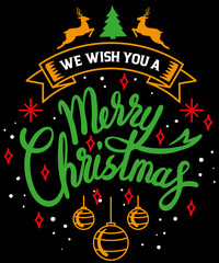 retro, decoration, design, graphic, typography, card, xmas, vector, calligraphy, merry, winter, illustration, lettering, christmas, happy, merry christmas, we wish you a, you, wish