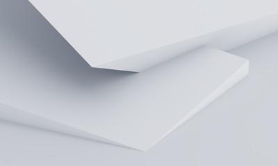 Abstract 3d render, modern geometric background design