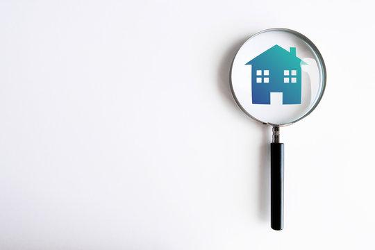 lente di ingrandimento, analizzare, casa, immobiliare