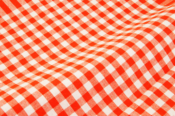 Acrylic Prints Picnic Red and white tablecloth background