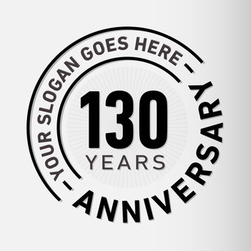130 years anniversary logo template. One hundred and thirty years celebrating logotype. Vector and illustration.
