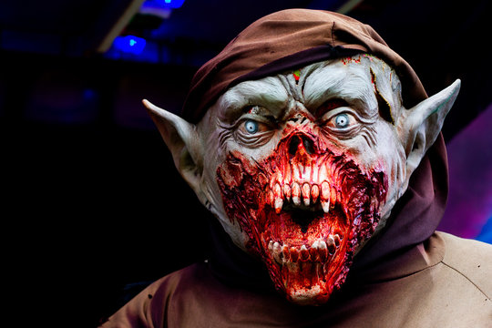 Spooky and scary Gremlin zombie halloween mask