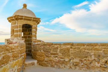 Santa Catalina fortress in Cadiz, Spain